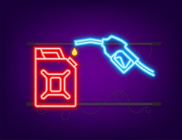 Roter kanister betanken von benzin oder diesel-vektor-web-banner tankstellen-netzwerk petroleum