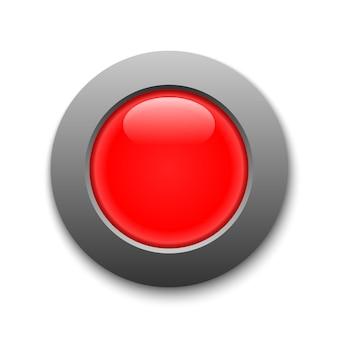 Roter kreis knopf