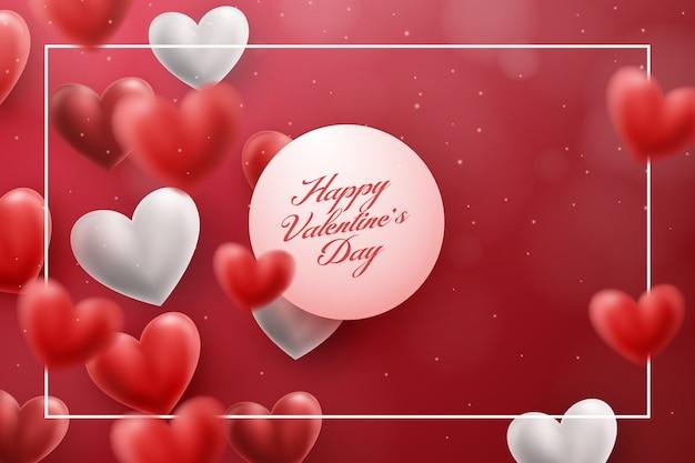 Roter liebes-hintergrund für valentinstag