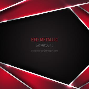 Roter metallischer hintergrund