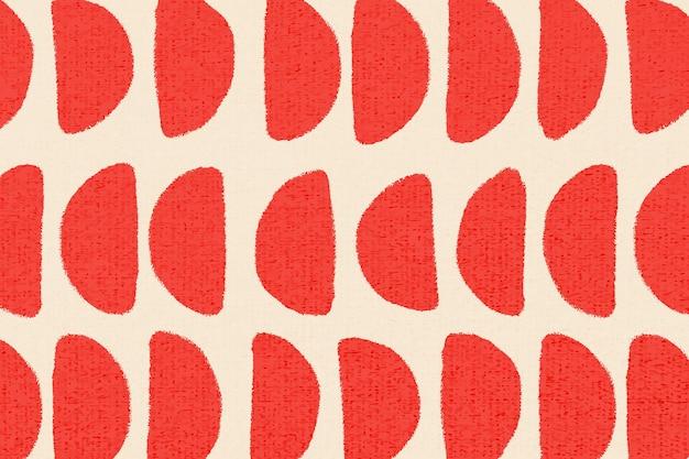 Roter musterhintergrundvektor, weinlesedesign