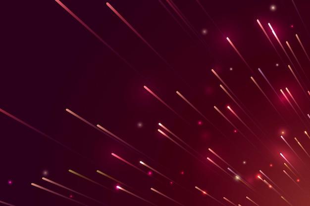 Roter neon-meteor-hintergrund