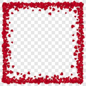 Roter papier-herzrahmen-hintergrund