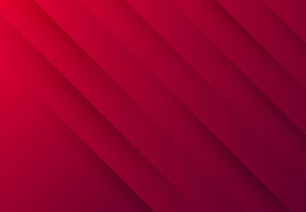 Roter papierschnitt des abstrakten farbverlaufs mit technischem design des schatteneffekts.
