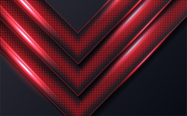 Roter pfeil mit punkt auf dunklem hintergrund