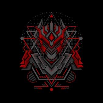 Roter phantomprojekt-geometriestil