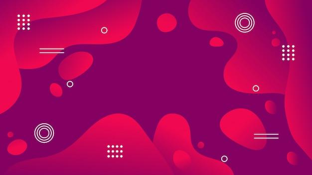 Roter purpurroter flüssiger abstrakter hintergrund der steigung