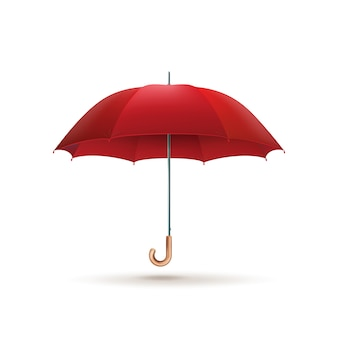 Roter regenschirm isoliert.