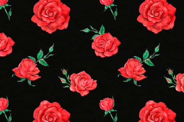 Roter rosenmusterhintergrund