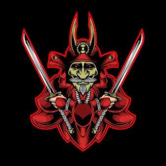 Roter samurai