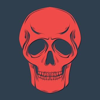 Roter schädel