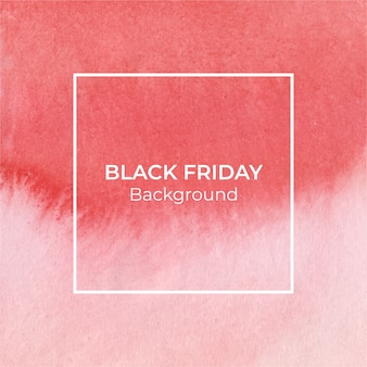 Roter schwarzer-freitag-aquarellhintergrund