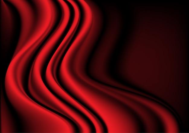Roter seidengewebekurven-kurvenhintergrund.