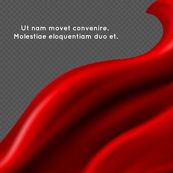 Roter seidengewebezusammenfassungshintergrund
