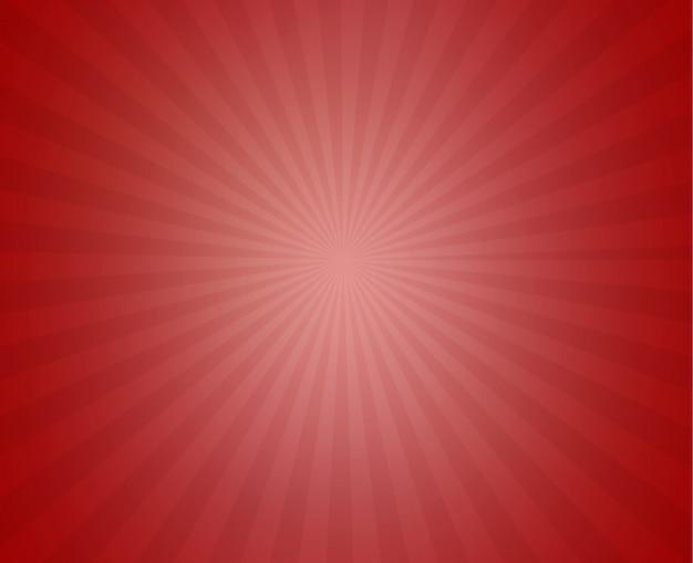 Roter sonniger strahlnhintergrund