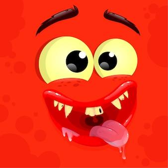 Roter süßer monster-avatar