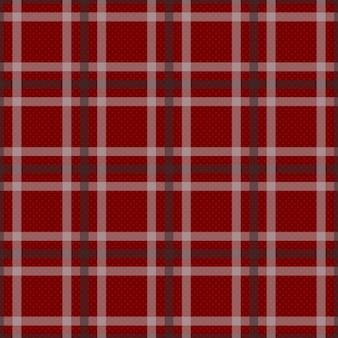 Roter tartan mit weißem und schwarzem streifen-hintergrund