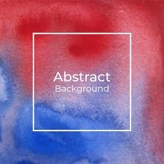 Roter und blauer aquarell abstrakter hintergrund