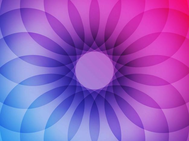Roter und blauer hintergrund der geometrischen blume