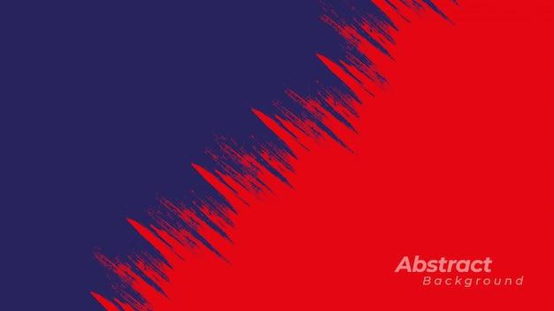 Roter und dunkelblauer hintergrund mit grunge beschaffenheit.