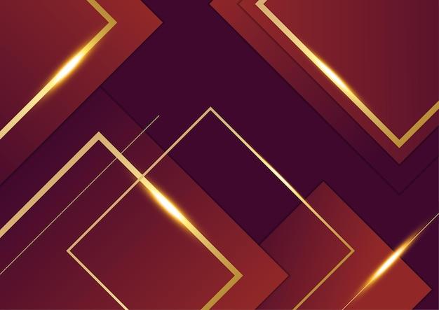 Roter und goldener abstrakter hintergrund