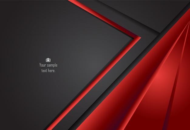 Roter und schwarzer abstrakter materieller designhintergrund