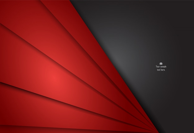 Roter und schwarzer abstrakter materieller hintergrund