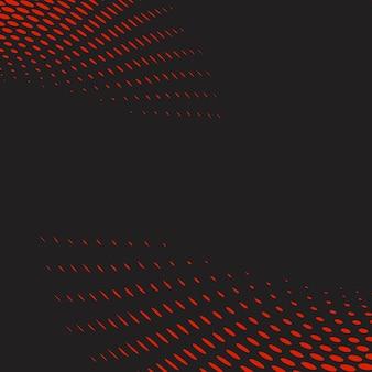 Roter und schwarzer gewellter halbtonhintergrundvektor