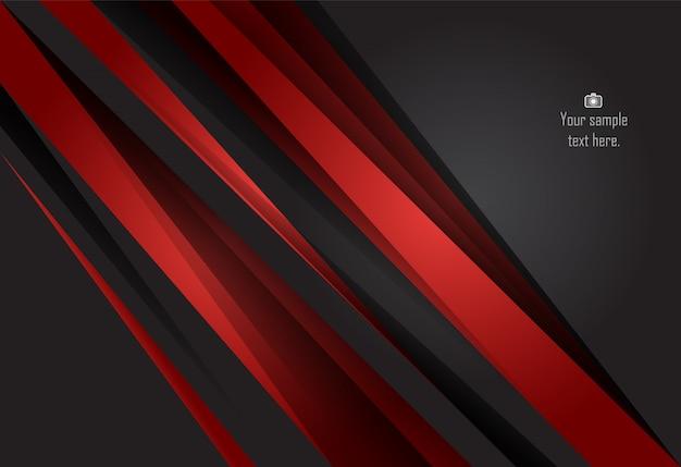 Roter und schwarzer materieller designhintergrund