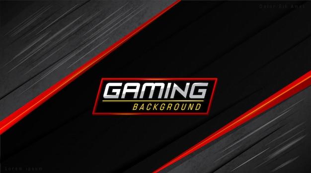 Roter und schwarzer moderner gamers-hintergrund