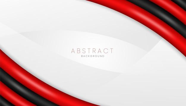 Roter und schwarzer realistischer abstrakter 3d-hintergrund