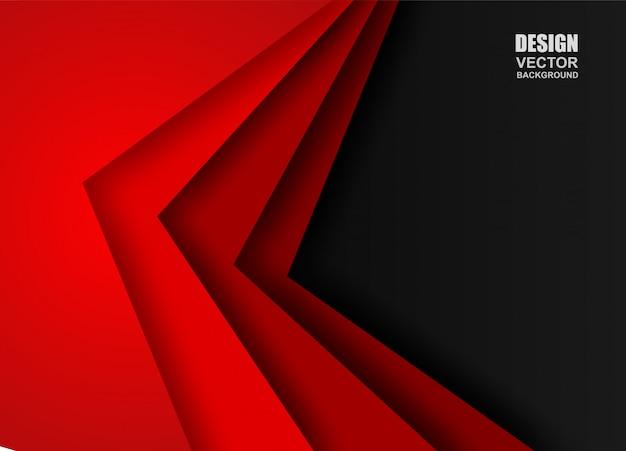 Roter und schwarzer überlappungshintergrund.