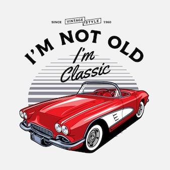Roter vintage cabrio sportwagen