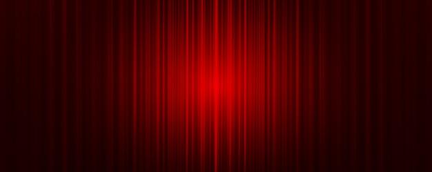Roter vorhang mit hellem bühnenhintergrund