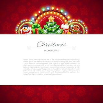 Roter weihnachtshintergrund mit exemplarplatz