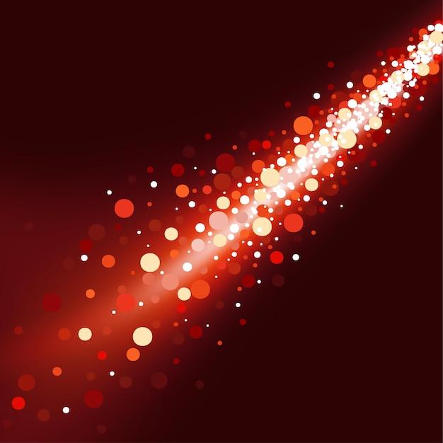 Roter weihnachtshintergrund von funkelnden bokeh-lichtern