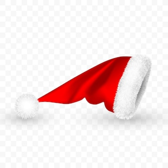 Roter weihnachtsmannhut isoliert