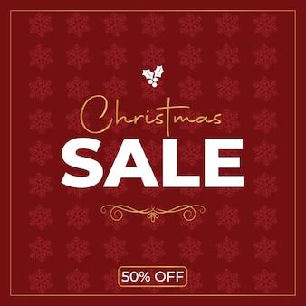 Roter weihnachtsverkauf poster vektor