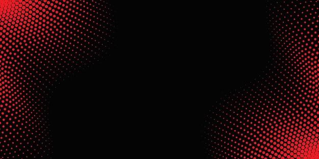 Roter wellenförmiger halbtonhintergrund