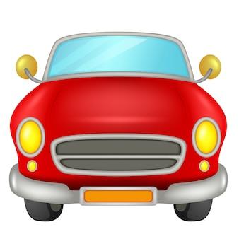 Rotes Auto auf einem weißen Hintergrund