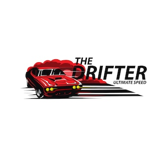 Rotes auto der drifter