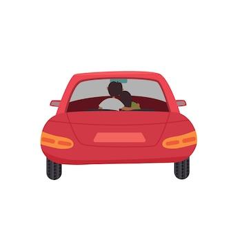 Rotes autopaar drin