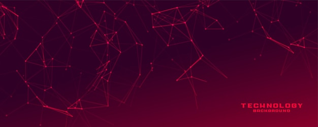 Rotes banner mit netzwerkdrahtgeflecht