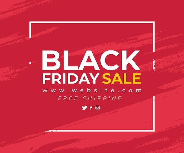 Rotes banner mit spritzer für black friday sale