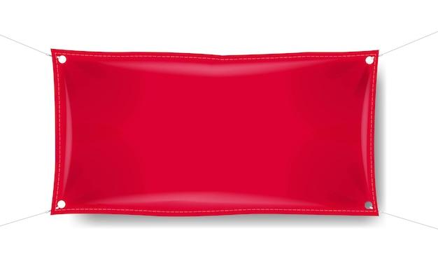 Rotes banner mit weißem hintergrund