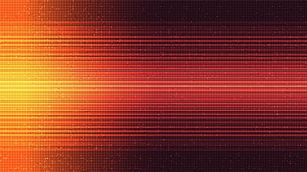 Rotes blitzlicht auf technologischem hintergrund, digitalem und internet-konzeptdesign ,.