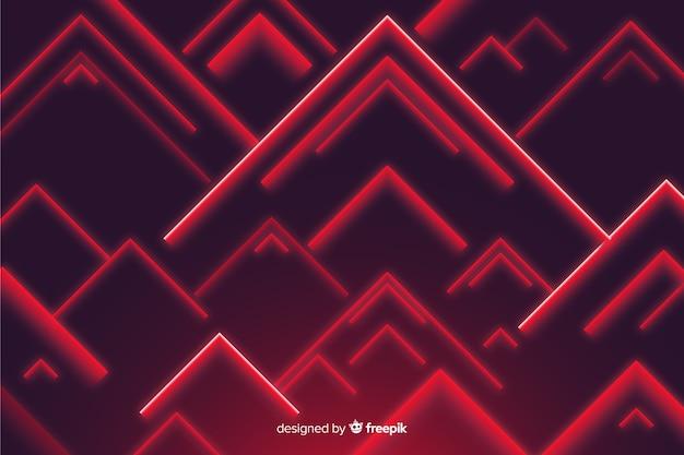 Rotes dreieck formt niedrigen polyhintergrund