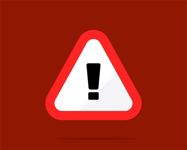 Rotes dreieck warnzeichen vektorgrafiken