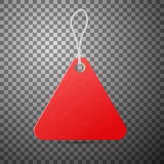 Rotes etikett. verkaufsförderung, niedriges preisangebot.