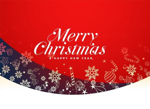 Rotes festivalhintergrunddesign der frohen weihnachten
